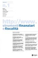 Strumenti finanziari e fiscalita'
