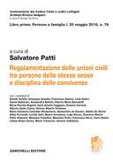 Unioni civili e convivenze Legge 20 maggio 2016, n. 76  regolamentazioni tra persone dello sesso e convivenze