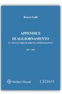 """Appendice di aggiornamento al """"Nuovo corso di diritto amministrativo"""" 2018"""