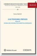 L'autonomia privata. volume II