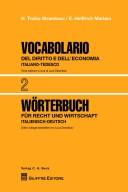 Vocabolario del diritto e dell'economia italiano-tedesco