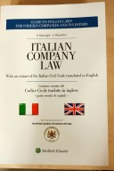Italian company law. With an extract of the italian civil code translated in english