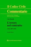 L'errore nel contratto Artt. 1427-1433 c.c. II^ Ed.