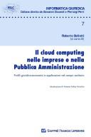 Cloud Computing nelle Imprese e nella Pubblica Amministrazione