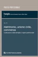 Matrimonio, unione civile, convivenza