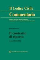 Il contratto di riporto. Artt. 1548-1551