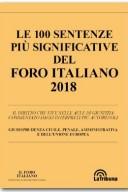 Le sentenze più significative del Foro Italiano 2018