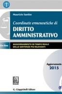 Coordinate ermeneutiche di diritto amministrativo aggiornamento 2015