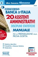 20 Assistenti Amministrativi Discipline statistiche - Manuale 2020 Concorso Banca d'Italia