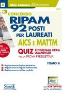Concorso RIPAM - 92 posti per laureati AICS e MATTM - Quiz attitudinali RIPAM commentati