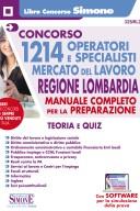 1214 Operativi e specialisti Mercato del Lavoro  Regione Lombardia Manuale  Teoria Quiz