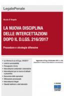 La nuova disciplina delle intercettazioni dopo il d.lgs. 216/2017  2018