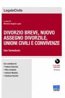 Divorzio breve, nuovo assegno divorzile, unioni civili e convivenze 2017